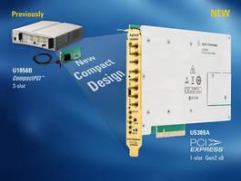 Eight-Channel 8-bit PCIe Gen2 Digitizer occupies one slot.