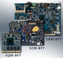 Embedded SBCs leverage Intel Atom E3800 (Bay Trail) CPU's.
