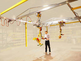 Lightweight Crane supports truss for increased capacity.