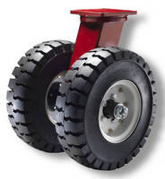 Pneumatic Casters increase capacity via dual-wheel design.