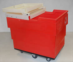 Recycling Cart features durable, single-piece base.