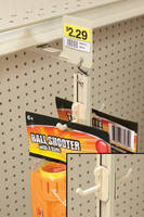Adjustable 2-Sided Hook Strip maximizes merchandising opportunity.