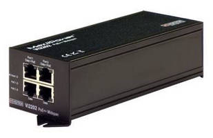 Dual-Port PoE Midspan meets requirements of high-power IP cameras.