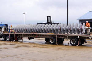 "Conveyor Engineering & Manufacturing to Supply Custom 55"" Diameter x 44' 4"" Long Conveyor Screw"