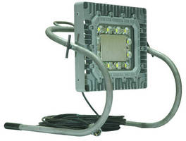 Portable LED Work Light features adjustable aluminum frame.