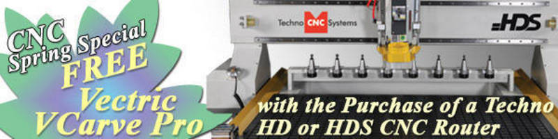 Spring CNC Router Special from Techno CNC Systems, LLC