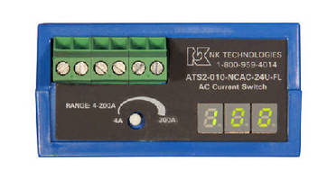 AC Current Sensors include built-in digital display.