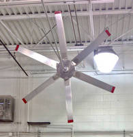 Vertical Tri-Pole Mount Ceiling Fan has lightweight, quiet design.