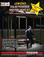 Solar-Powered Light Kit illuminates outdoor shelters.