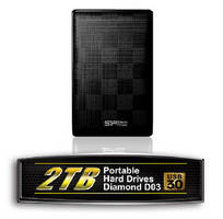 USB 3.0 Portable Hard Drives offer 2 TB capacity.