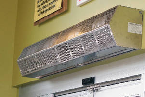 Air Curtains protect doors up to 10 ft wide.