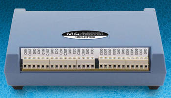USB Counter/Timer DAQ Devices offer high-speed operation.