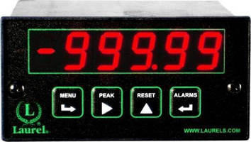 Load Cell Meter delivers high-speed readings via Ethernet/Internet.