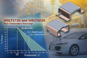 Current Sense Resistors feature 4-terminal design.