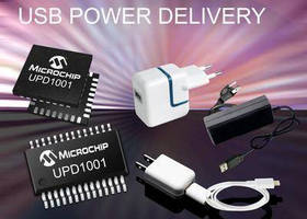 USB Power Delivery Controllers deliver up to 100 W.