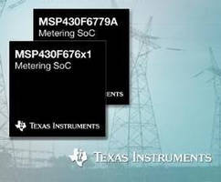 3-Phase Metering SoCs offer security, memory, low power options.