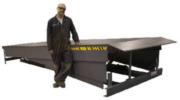 A Custom 16 Foot Hydraulic Dock Leveler Ships Overseas