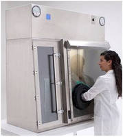 Shallow Glovebox conserves time and simplifies work processes.
