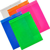 Vinyl Document Holders allow for color-coding.