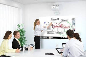 Short-Throw 3LCD Projectors feature whiteboard sharing tool.