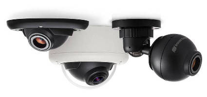 IP Cameras provide 180° and 360° coverage.