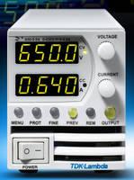 Programmable DC Power Supplies offers outputs up to 650 V.