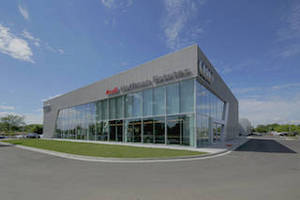 Chicago's Audi Dealership Showcases Tubelite's Curtainwall