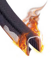 Extruded Rubber meets smoke and flame requirements.