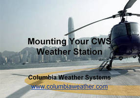Weather Station Mounting Options Presented