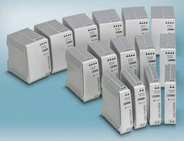 Power Supplies are optimized for space and energy efficiency.