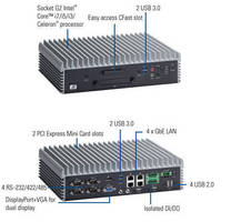 Fanless Embedded Box Computer has compact, rugged design.