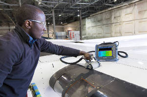 Phased Array Wheel Probe inspects composite materials.