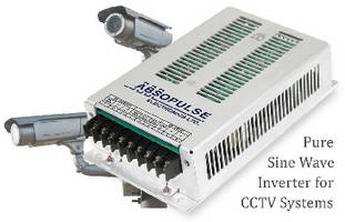 DC-AC Sine Wave Inverter powers CCTV systems.