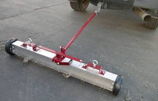 Tow-Behind Magnetic Sweeper features 3-in-1 design.