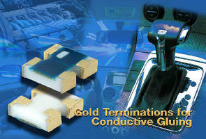 Thin Film Chip Resistor Arrays feature gold terminations.