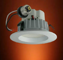 LED Recessed Downlights fit 4 in. ceiling can openings.