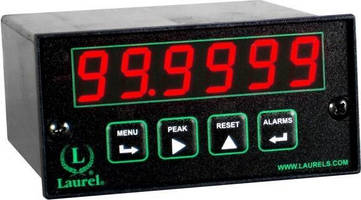 Electronic Counter transmits totals via Ethernet, 4-20 mA outputs.