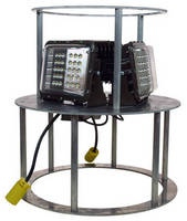 Stackable and Portable LED Work Area Light provides 360° coverage.