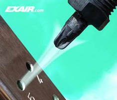 PEEK Air Nozzle ensures precise, non-marring blowoff.