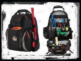 Tool Backpack features 2-compartment design.