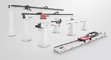 Overhead Robot Tracks handle static loads up to 5,000 lb.
