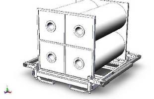 Shipping Racks feature folding corner posts.