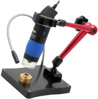 Optical Instrument Stand offers range of motion, LED light.