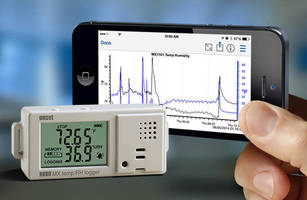 Wireless Temperature/RH Datalogger does not require PC for setup.