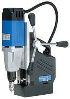 Portable Magnetic Drill can be converted to standard drill press.