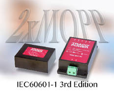 AC-DC Power Modules comply with medical safety standards.