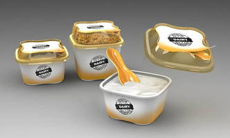 Dairy Product Packaging offers integrated spoon.