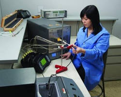 Thermocouple Calibration Furnace has 300° to 1,200°C range.
