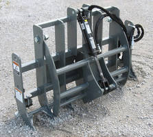 Grapples enhance mini skid steer, compact tool carrier abilities.
