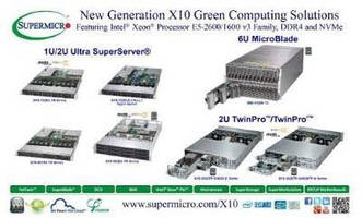 Supermicro® Releases X10 Server Solutions Featuring New Intel® Xeon® Processor E5-2600/1600 v3, DDR4 and NVMe at IDF 2014